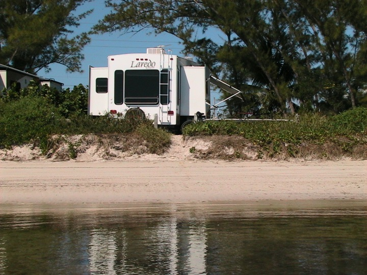 Back of our camper at Long Key