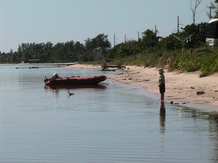 Boy in Ocean at Long Key