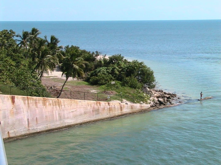 Guy fishing off Bahia Honda