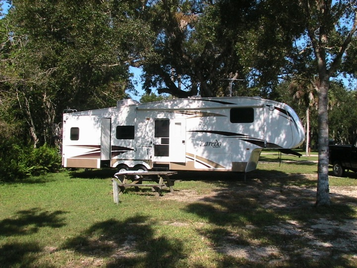 Our campsite at Collier-Seminole SP