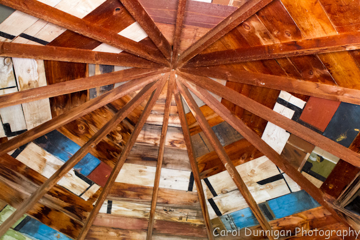 I actually had seen this photo on another site, but I too thought it was pretty neat.  This is the inside of the roof of the granery (that's how they spell it - I would think it's grainery)