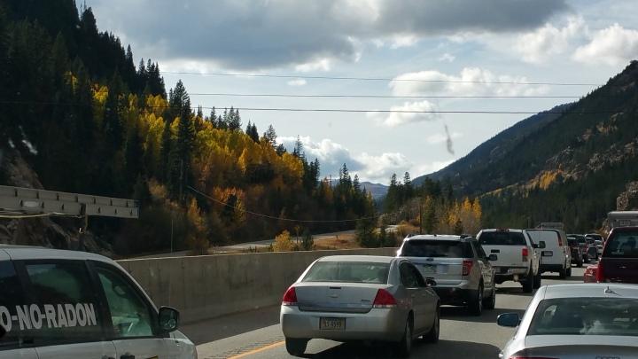 I-70, traffic, construction, Colorado, westbound