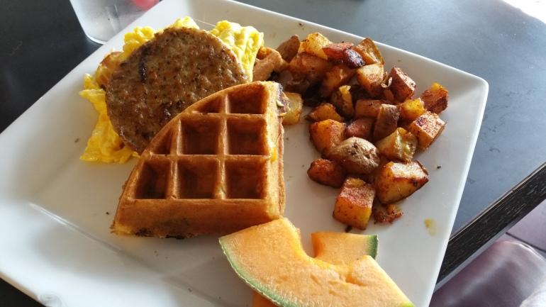 Blueberry Waffle Sandwich